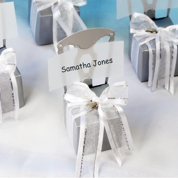 Židle design Krychlový Card Paper Dárkové krabičky S Saténové stuhy Sada 12