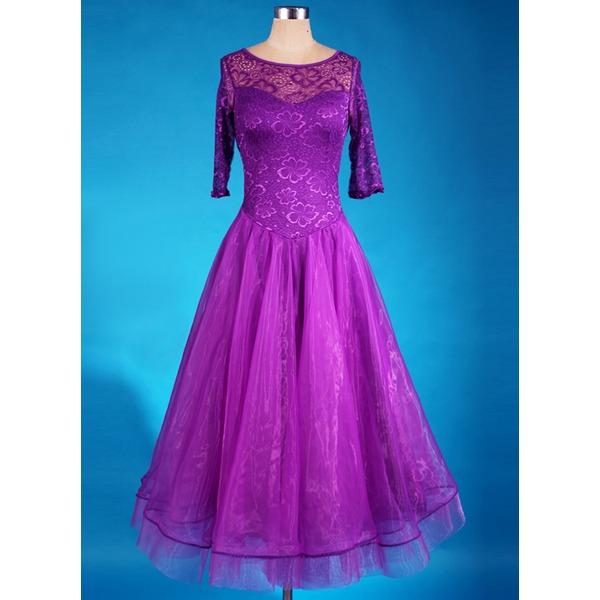 Dámské Taneční oděv Spandex Organza Latinský tance Šaty