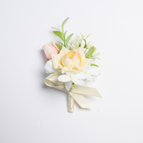 Lovely Free-Form Satin/Fabric Boutonniere (Sold in a single piece) -