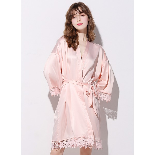 Elegant lace Silk / Cotton Robe