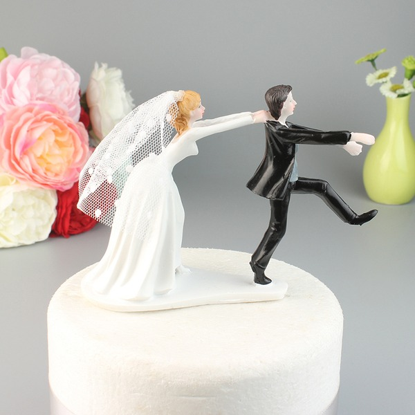 Bride en Bruidegom/Mr & Mrs Resin Taarttoppers