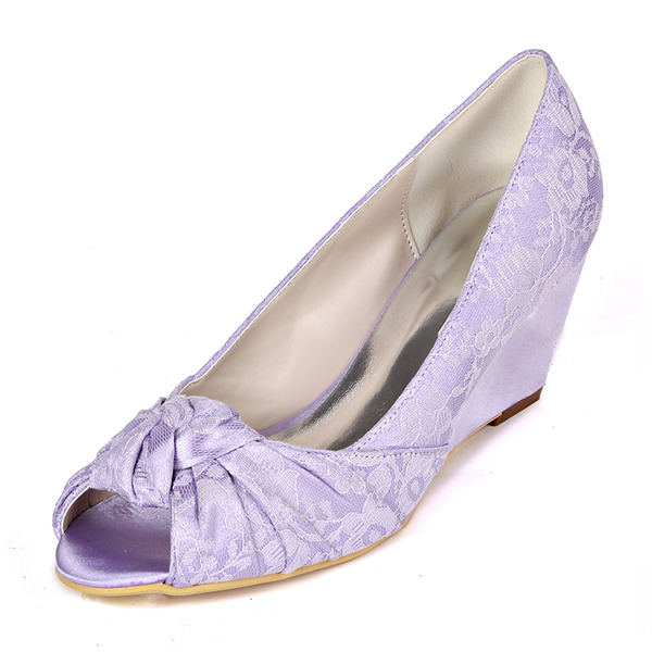 Women's Lace Wedge Heel Peep Toe Wedges With Others