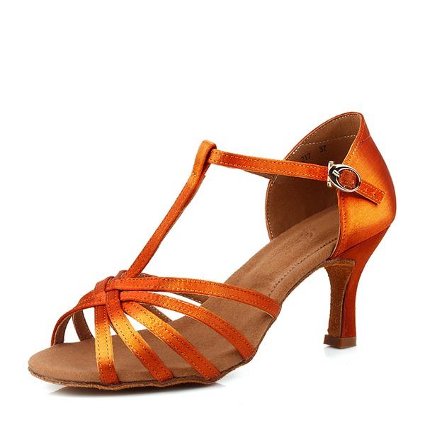 Mulheres Cetim Saltos Latino Sapatos de dança