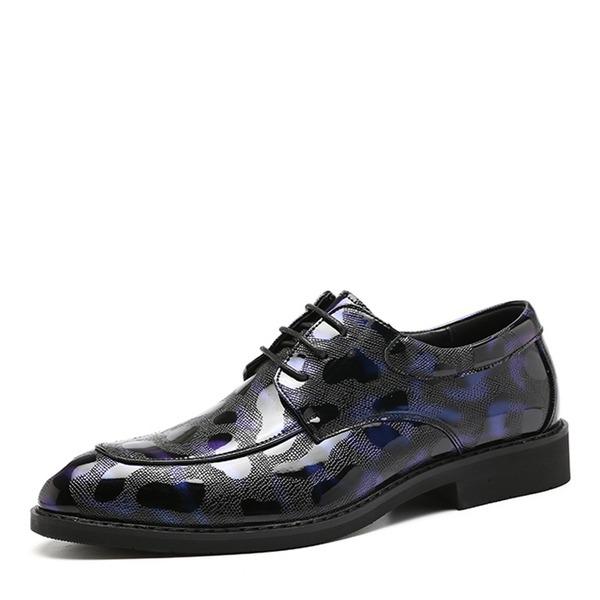 Herren Kunstleder Zuschnüren Derbies Abendschuhe Herren-Oxford-Schuhe