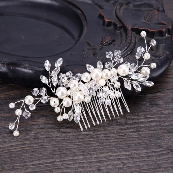 Glamourös Legierung Kämme und Haarspangen mit Perle