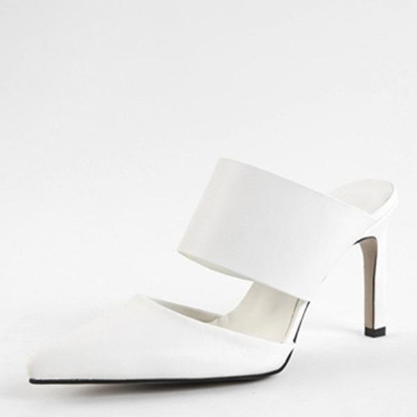 Femmes Similicuir Talon bottier Sandales Escarpins Bout fermé Escarpins chaussures