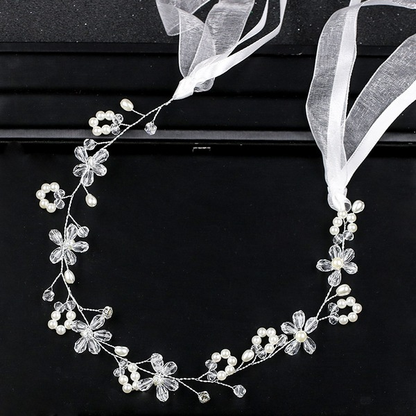 Ladies Pretty Rhinestone/Alloy/Imitation Pearls Headbands With Rhinestone
