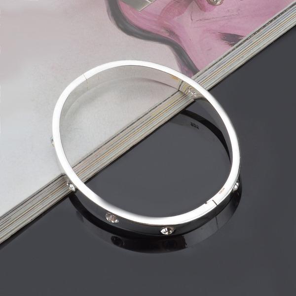 Exquis Argent plaqué Cuivre Femmes Bracelets de mode (Vendu dans une seule pièce)
