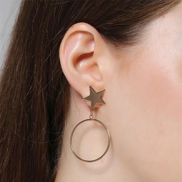 Einzigartig Legierung Frauen Art-Ohrringe (Set von 2)