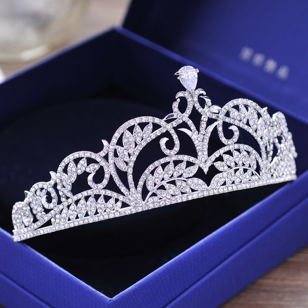 Glamourous Rhinestone/Alloy/Zircon Tiaras (Sold in single piece)