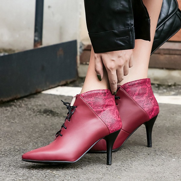Femmes PU Talon stiletto Escarpins Bottes أحذية