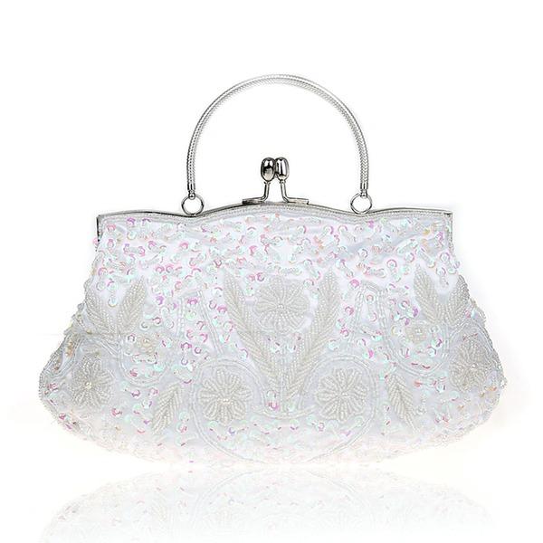 Elegant Satin/Silk Clutches/Wristlets/Satchel/Totes/Bridal Purse/Fashion Handbags/Makeup Bags/Luxury Clutches