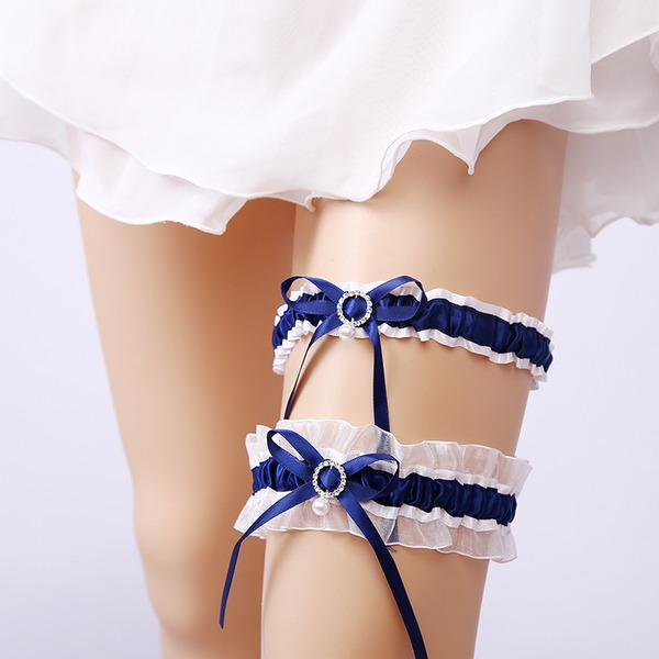 2-Teilig/Elegant Spitze mit Strass Hochzeit Strumpfbänder