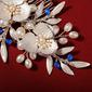 Vakkert Imitert Perle Kammer og Barrettes med Venetianske Perle (Selges i ett stykke)