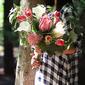 Gorgeous Hand-tied Silk Flower Bridal Bouquets -