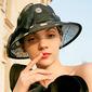 Dames Klassiek/Elegant/Charme Batist met strik Kentucky Derby Hats